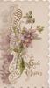 GOOD WISHES violets & design left, gilt