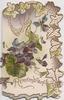 REMEMBRANCE violets on front above, ivy leaf design top & right margins