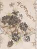 REMEMBRANCE in gilt above violets & 4 bells  on top front flap