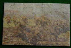 A CHARGE BY THE ROYAL NAVAL DIVISION. OFFICER LEADING HIS MEN
