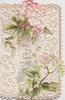 LIVE LONG AND HAPPY between pink hydrangeas above & white below on very perforated front