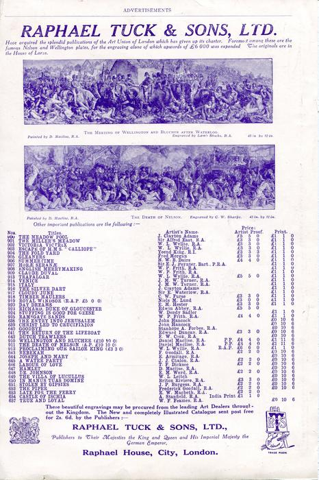 advertisment in Royal Society of London publication