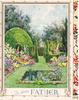 TO DEAR FATHER  traditional English garden with water garden front-centre, panel of red azaleas right