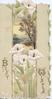 BEST WISHES (B & W illuminated) on perforated front, white lilies below central watery inset