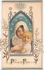 PRINCE OF PEACE (P & P illuminated) large perforation reveals Baby Jesus cuddled by Mary framed by embossed white & gilt design with lilies