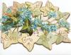 EVERY GOOD WISH in gilt below forget-me-nots & ivy, stylised ivy leaf design above & below