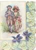 no front title, man & woman walk front arm in arm stylised ivy & violets at margins