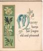 MEMORY TURNS HER PAGES OLD AND PLEASANT(M illuminated), ivy & other leaves in design left