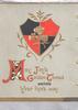 MAY JOY'S GOLDEN THREAD ENCIRCLE YOUR LIFES WAY (M,J,G &T illuminated) grey background below red & black shield design