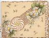 no front title, white daisies with yellow  centres  in front of stylised white & gilt perforated design