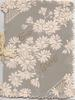 GOOD WISHES in gilt on grey background, many stylised white  daisies, perforated
