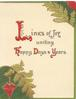 LINKS OF JOY UNITING HAPPY DAYS& YEARS(L,H,D,& Y illuminated), stylised ferns above & below