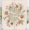 DINNA FORGET, white daisies with yellow centres,white perforated design, flaps open to reveal girl punting