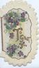 TO GREET YOU (illuminated & glittered) violets left & above in gilt bordered inset