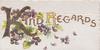 KIND REGARDS(K & R illuminated)  violets & fern around,