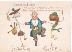 """SONS OF THE EMPIRE"" THE MAC CLAY   THE O'BRIAR  Englishman dances with Scottish & Irish pipe-people"