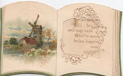 novelty, no front title, card shaped as book, -inside back wild hedge parsely