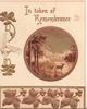 IN TOKEN OF REMEMBRANCE stylised gilt ivy leaves below gilt bordered rural inset, stag in lake