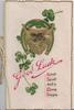 GOOD LUCK, GOOD SPORT AND A MERRY SEASON gilt fox's head & clover in gilt & green horseshoe