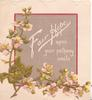 FAIR HOPE UPON YOUR PATHWAY SMILE on red-bordered grey plaque above pale pink wild roses