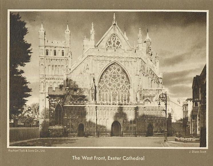 THE WEST FRONT, EXETER CATHEDRAL