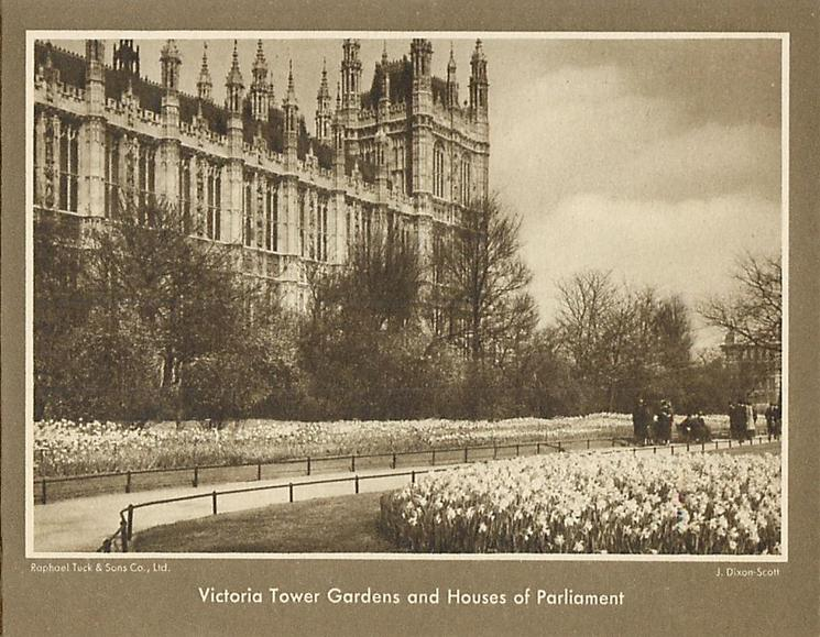 VICTORIA TOWER GARDENS AND HOUSES OF PARLIAMENT