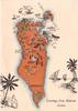 GREETINGS FROM BAHRAIN ARABIA  orange bioregional resource map of BAHRAIN IS.