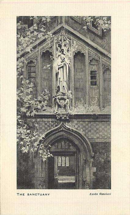 THE SANCTUARY front view, black & white with white border