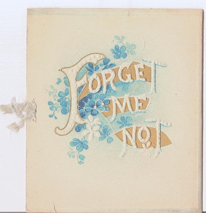 FORGET ME NOT letters surrounded by forget-me-nots