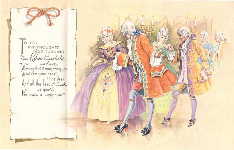 A HAPPY CHRISTMAS procession of couples dancing, right