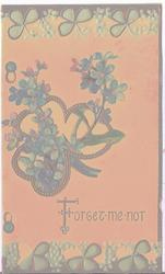 FORGET-ME-NOT in gilt, blue forget-me-nots
