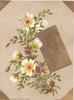 A BLITHE NEW YEAR BE THINE on gilt plaque, white daisies with yellow centres