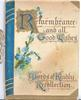 REMEMBRANCE AND ALL GOOD WISHES(illuminated), blue forget-me-nots
