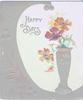 HAPPY DAYS gilt design and vase, anemones in vase