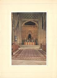 no front title, CANTERBURY CATHEDRAL: THE NAVE LOOKING EAST (inside left)