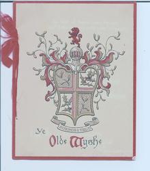 STAUNCH & TRUE   YE OLD WYSHE  medieval insignia