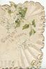 CHRIST IS RISEN below white lilac, elaborate white design