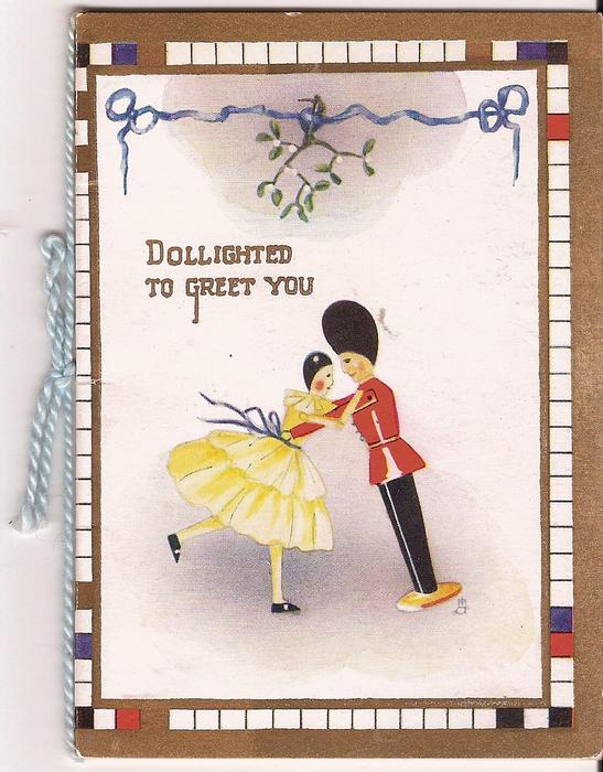 DOLLIGHTED TO GREET YOU toy soldier and doll dancing