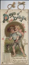 DAYS OF DELIGHT CAL. FOR 1904