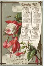 CALENDAR 1885 red fuschia