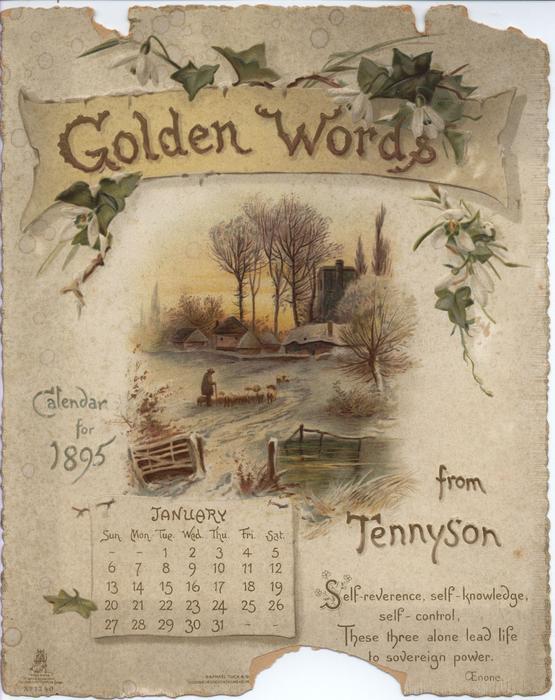 GOLDEN WORDS FROM TENNYSON CALENDAR FOR 1895