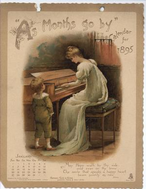 """""""AS MONTHS GO BY"""" CALENDAR FOR 1895"""