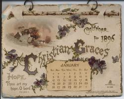 CHRISTIAN GRACES CALENDAR FOR 1896
