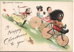 """GOLLIWOGG"" COASTING   opt. A HAPPY CHRISTMAS TO YOU"