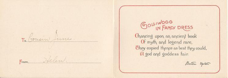 """""""GOLLIWOGG"""" IN FANCY DRESS    opt. WISHING YOU A HAPPY CHRISTMAS"""