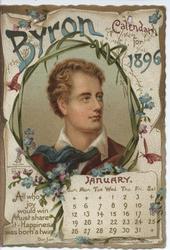 BYRON CALENDAR FOR 1896