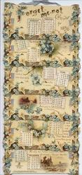 FORGET-ME-NOT CALENDAR FOR 1896
