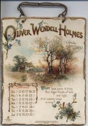 OLIVER WENDELL HOLMES CALENDAR FOR 1897