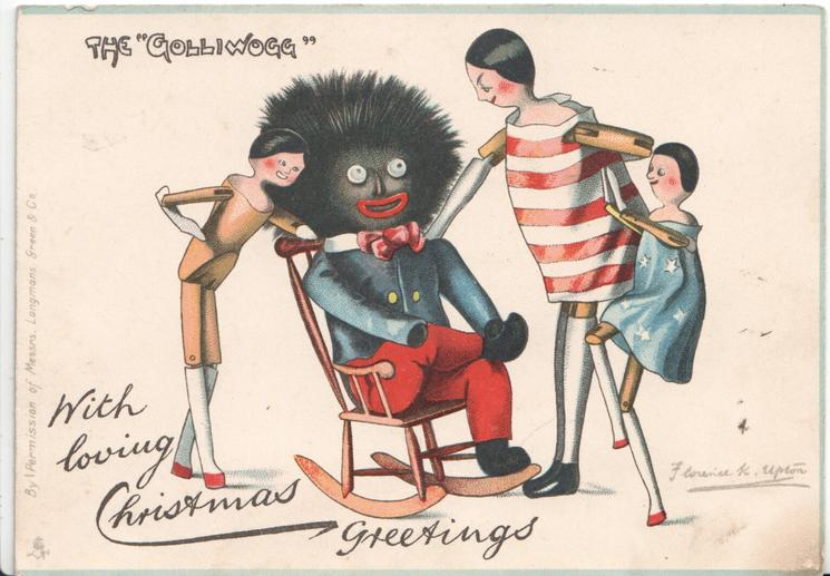 "THE ""GOLLIWOGG""  WITH LOVING CHRISTMAS GREETINGS"