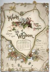 WORDS OF WISDOM A CALENDAR FOR 1900